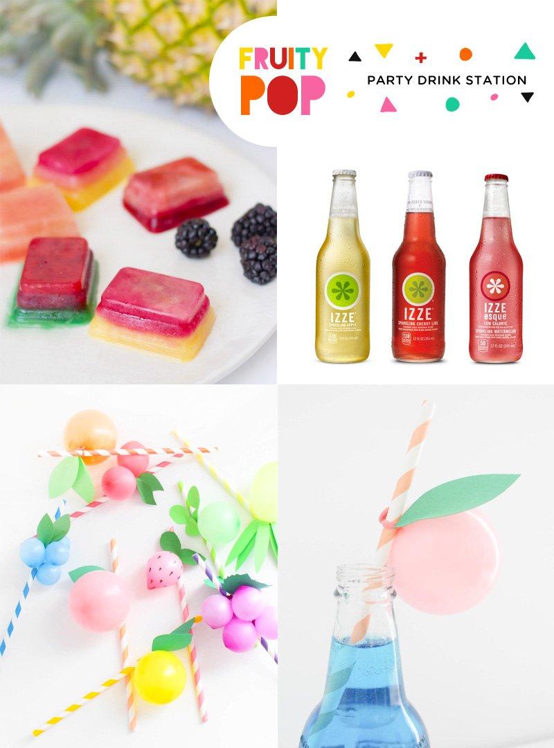 Sparkling Fruity Pop Drink Station Ideas