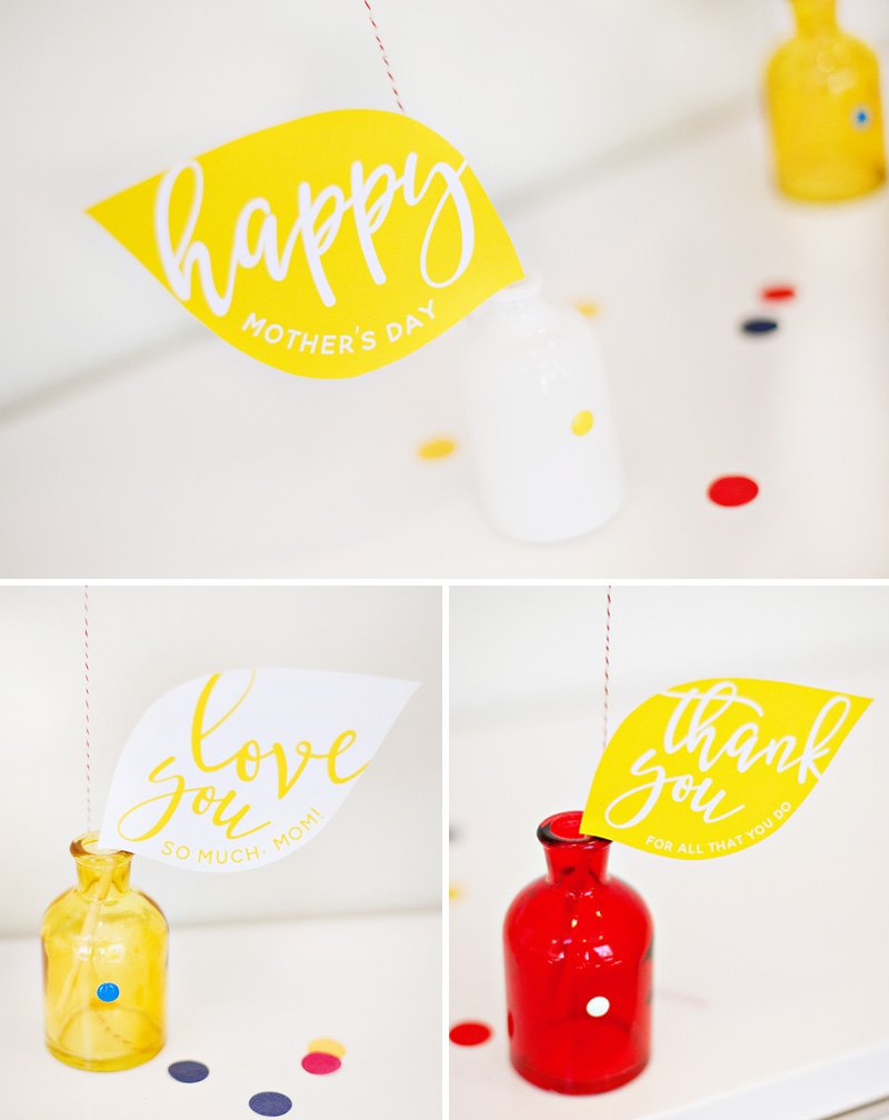Mother's Day Printable Leaves for DIY Flower Balloons