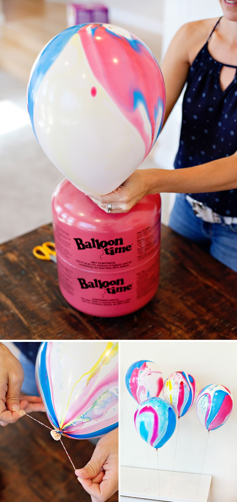 Marbled Balloons - Red Yellow Blue