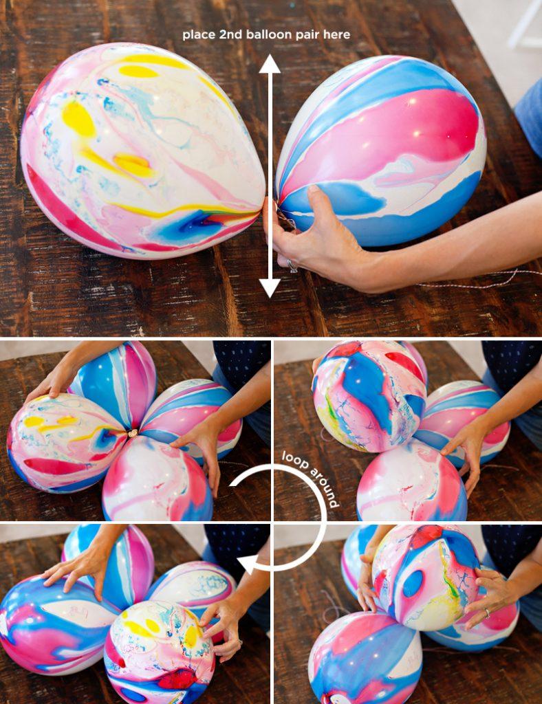 DIY Marble Balloon Flower Tutorial