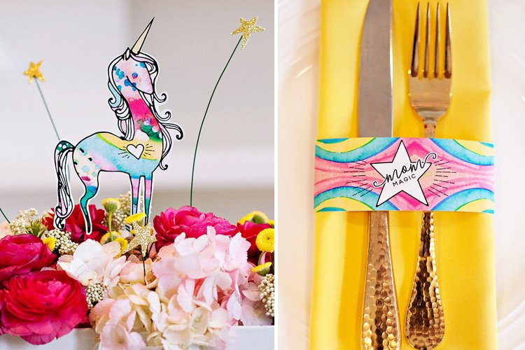 """Mom Magic"" Mother's Day Brunch Ideas + Free Unicorn Printables!"