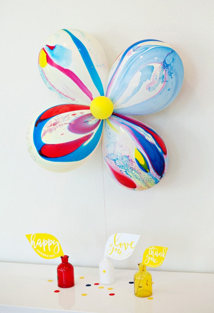 Marbled Balloon Flower - Gift Idea for Mom