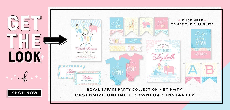 Royal Safari Printables
