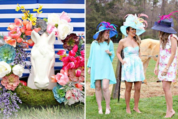 A Vibrant & Colorful Kentucky Derby Garden Party