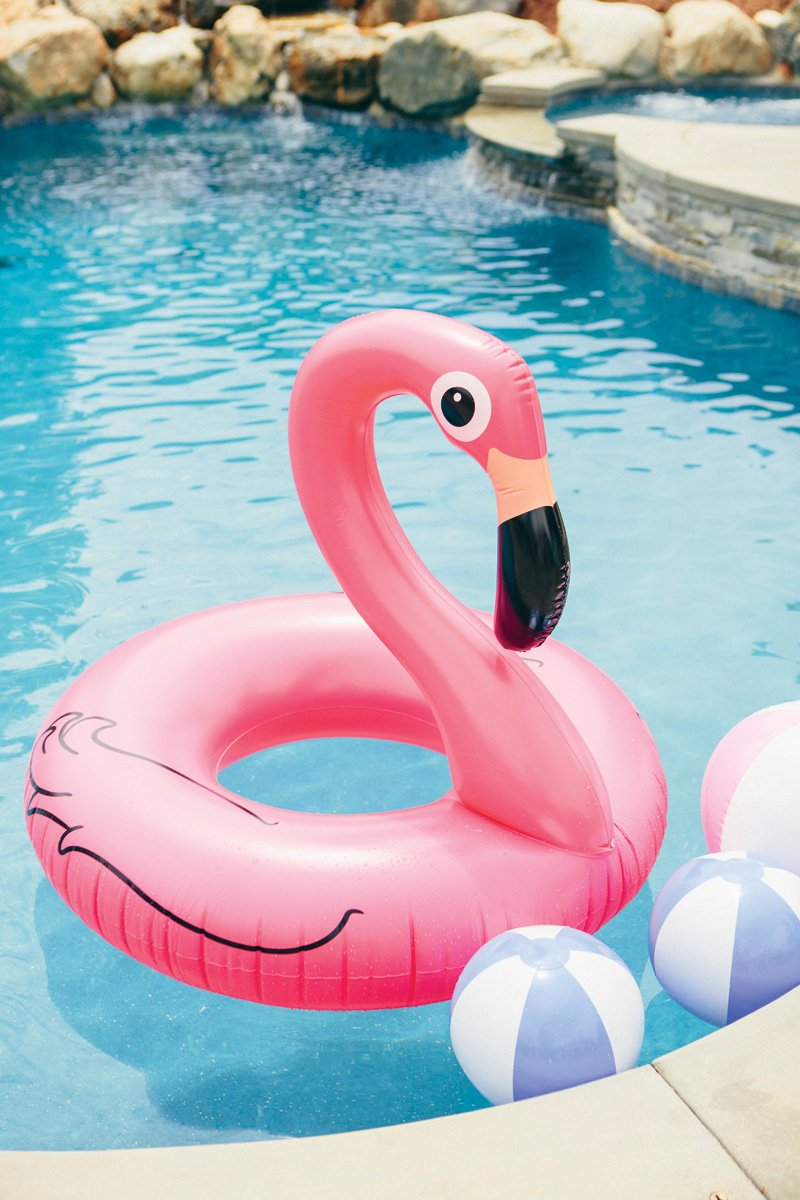 flamingo pool inner tube