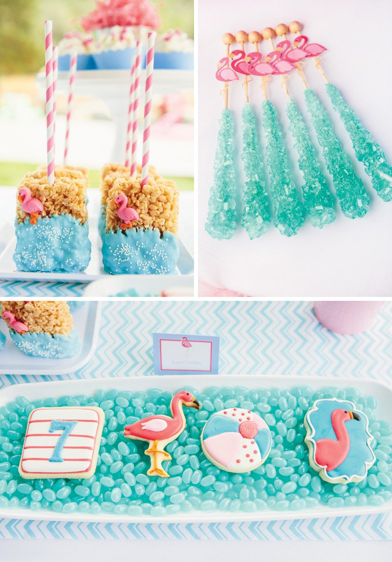 flamingo themed party desserts
