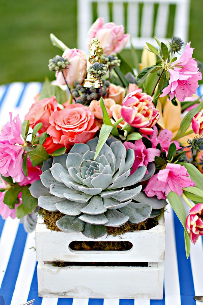 Kentucky Derby Garden Party Centerpiece