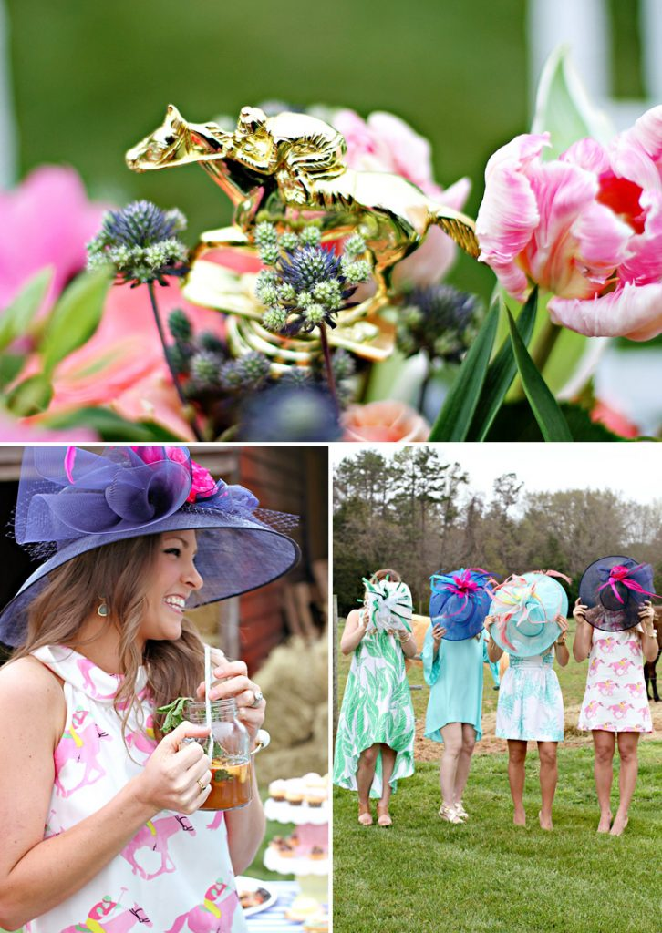 Kentucky Derby Hats - Navy Pink Mint