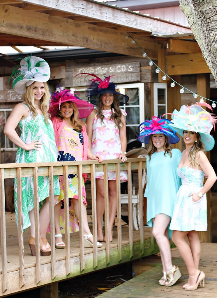 Kentucky Derby Fashion - Hats and Dresses in Pink, Mint, Navy
