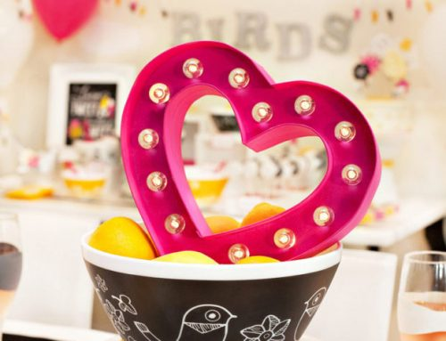 "Modern ""Love Birds"" Bridal Shower + Free Printables"