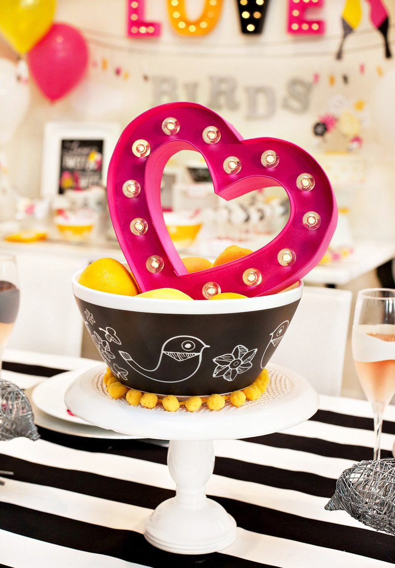 Love Birds Bridal Shower Centerpiece