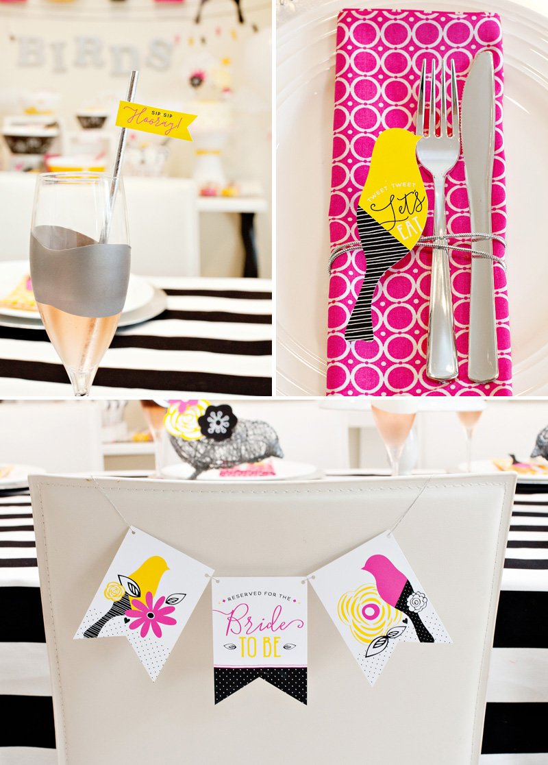 Love Birds Bridal Shower Table Ideas