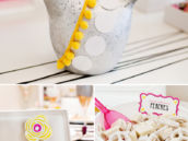 Pink and Yellow Bird Bridal Shower Ideas