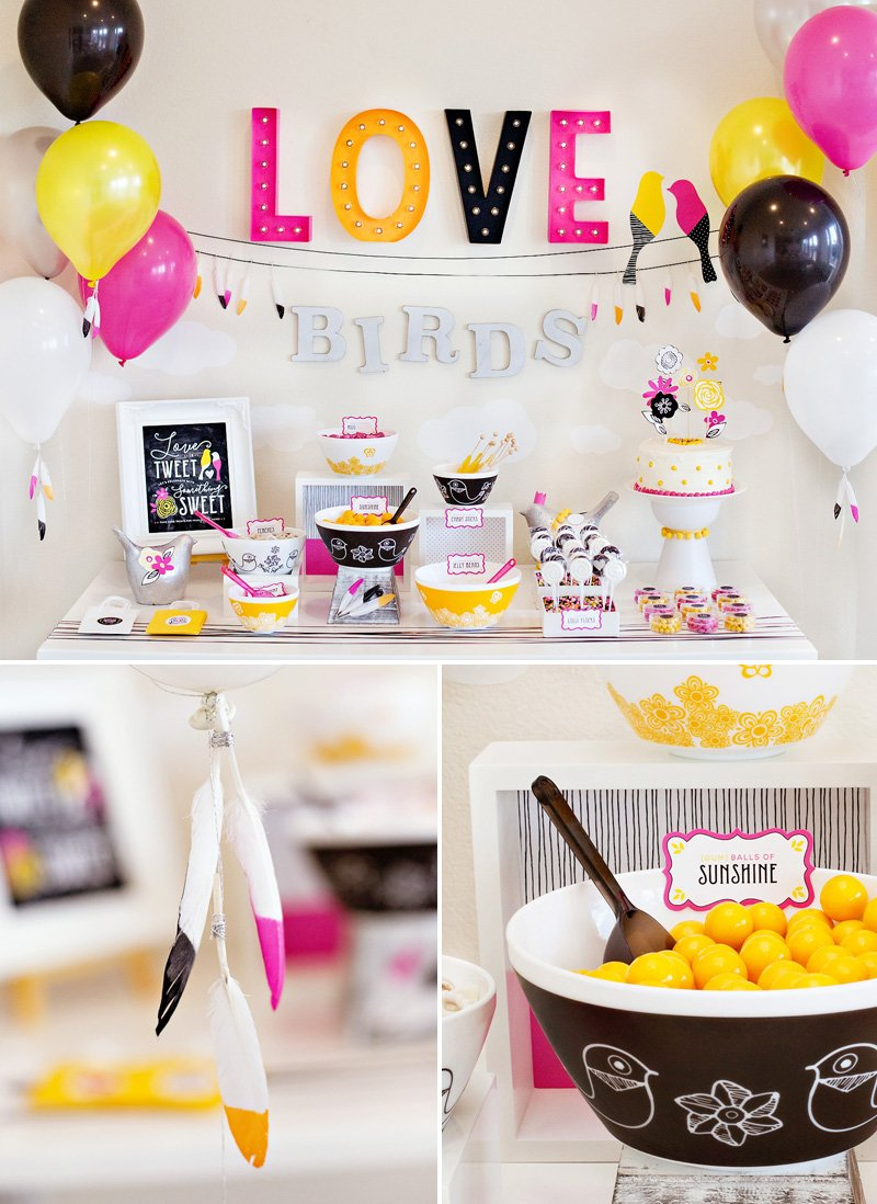 Love Birds Bridal Shower Candy Buffet