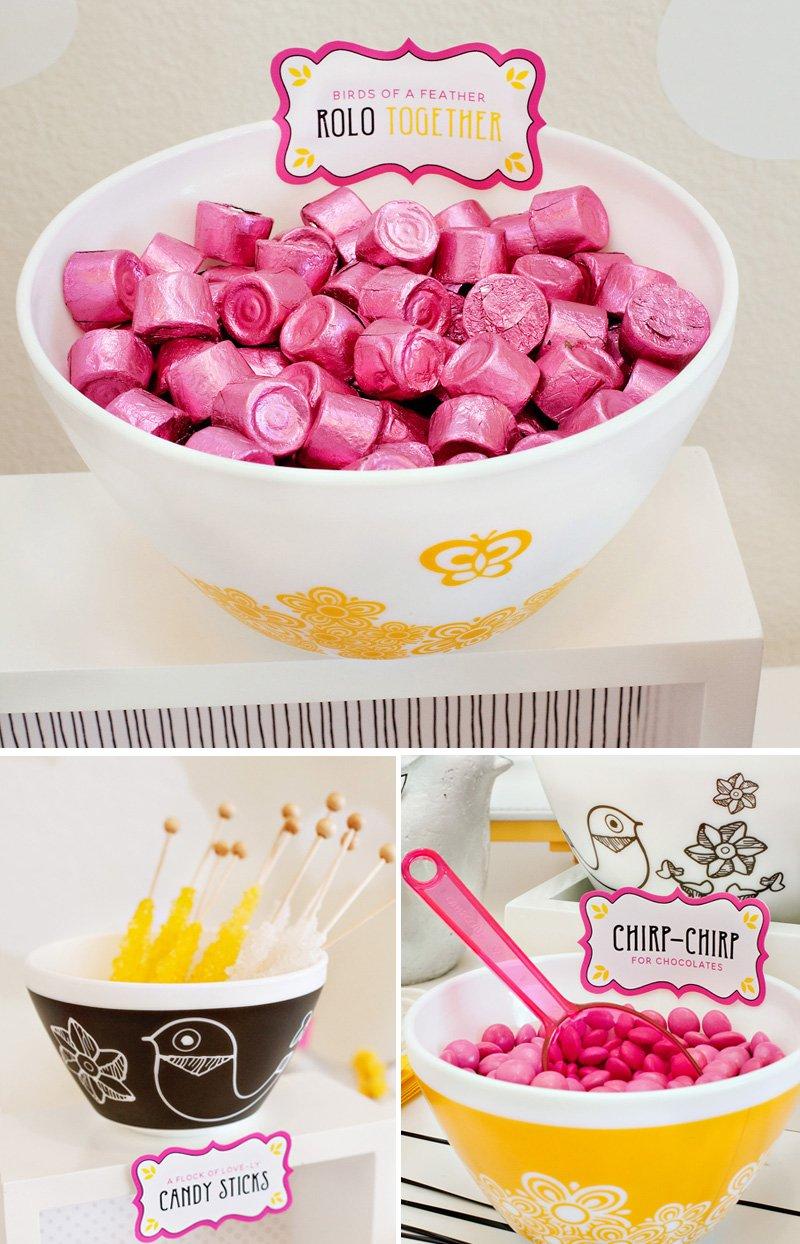 Love Birds Candy Buffet Ideas