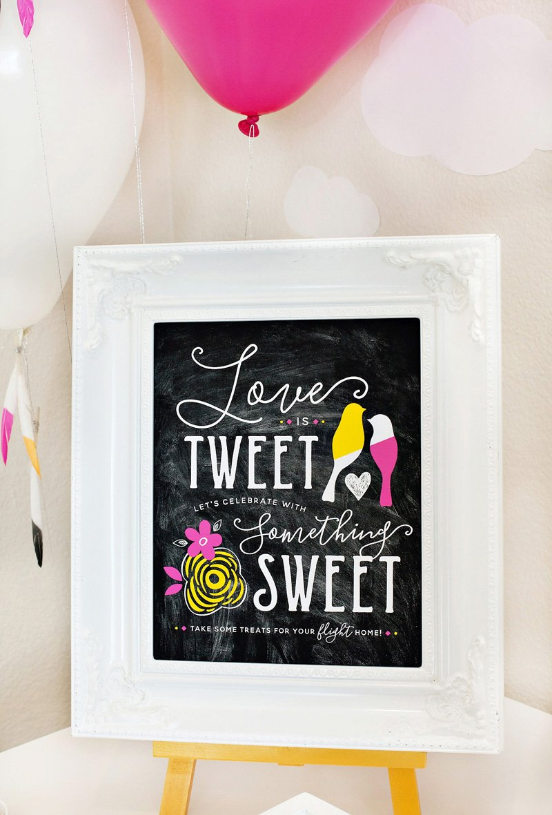 Love Birds Bridal Shower Sign