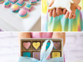 pastel rainbow chocolates