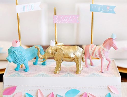 Royal Safari Baby Shower Theme + Free Printables {Pink & Blue}