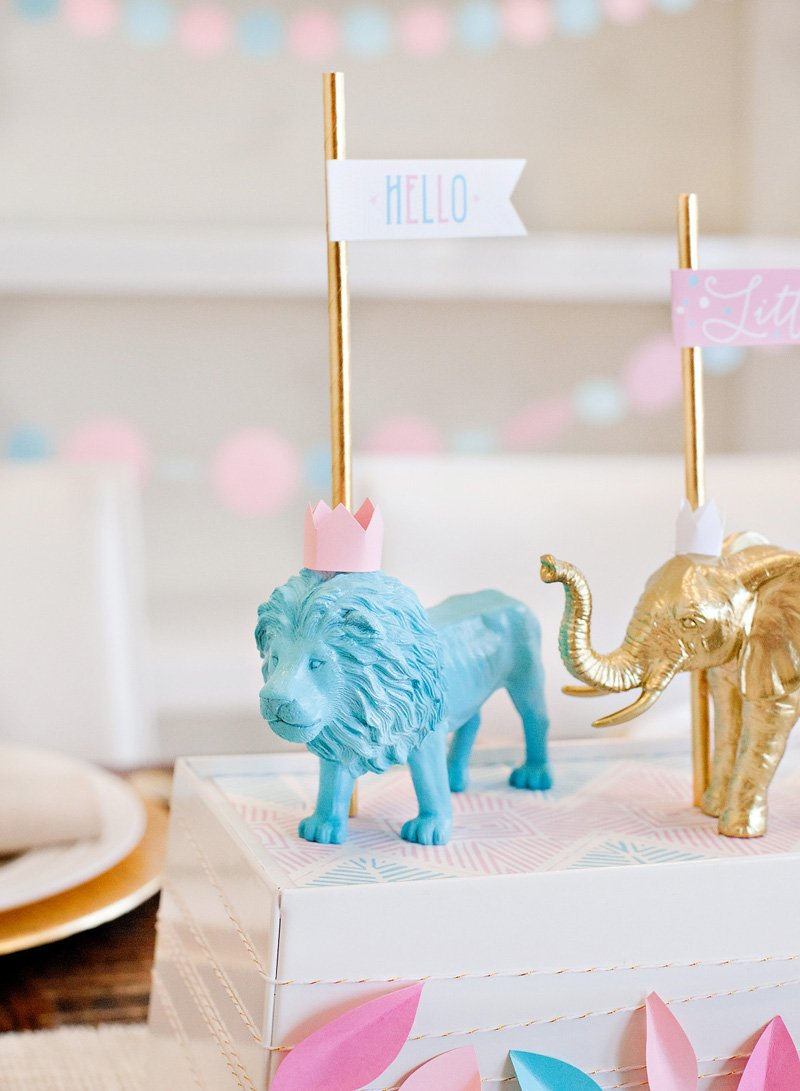 DIY Painted Animals with Crowns