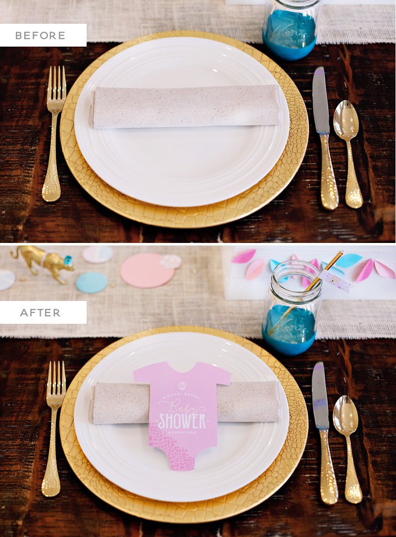 Baby Shower Place Settings - Paper Onesie