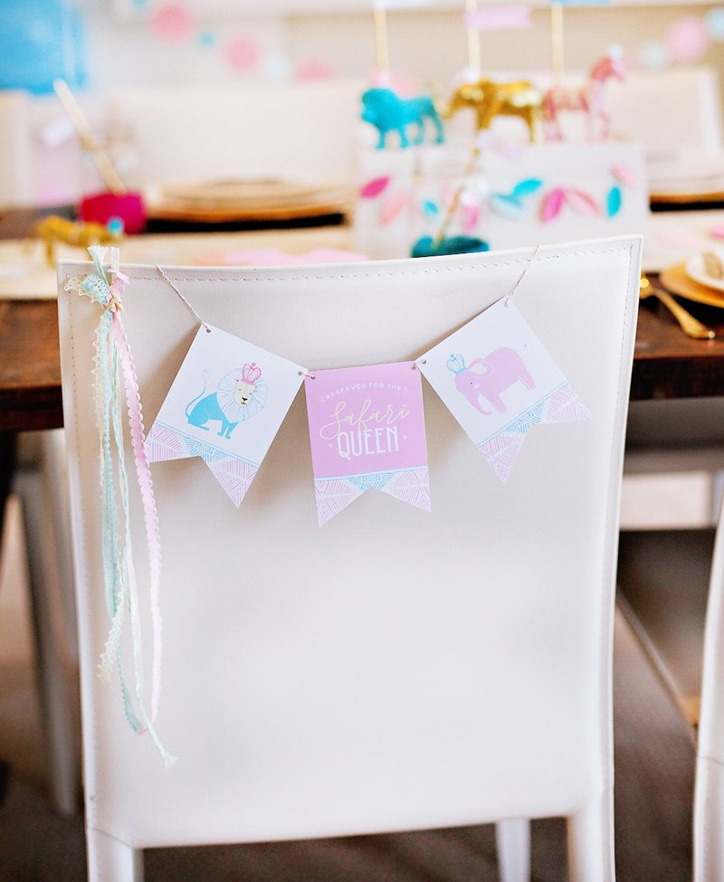 Baby Shower Chair Banner - Free Printable