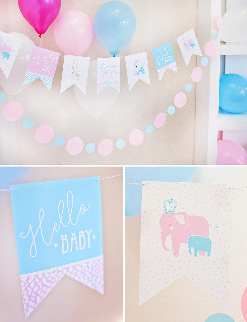 Royal Safari Baby Shower Banner