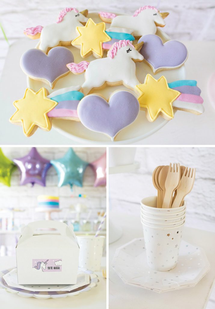 unicorn and shooting star cookies