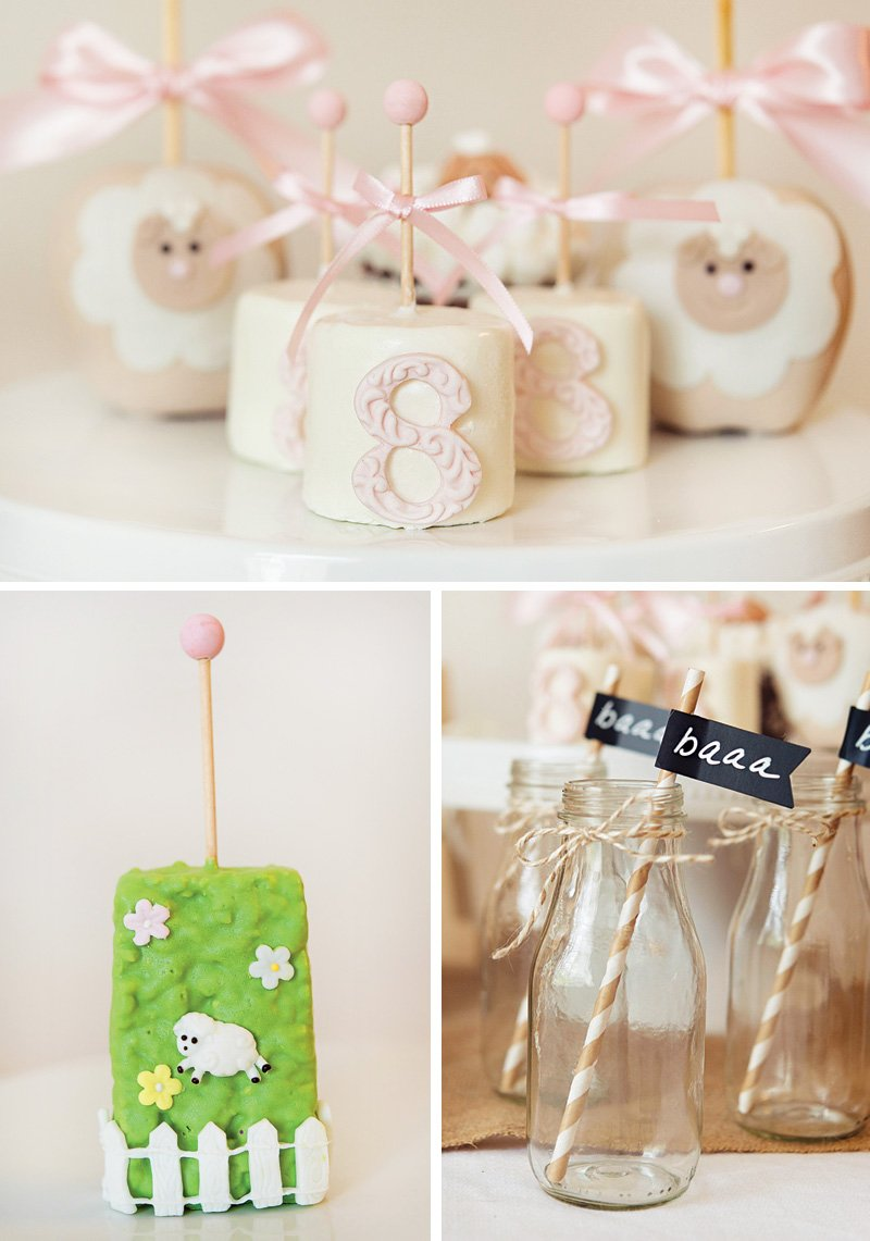 8th birthday marshmallow pops