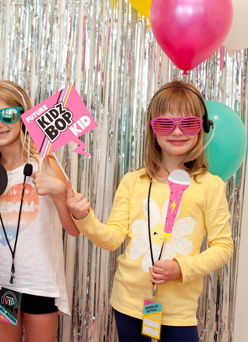 Kidz Bop Pop Star Party Photo Booth