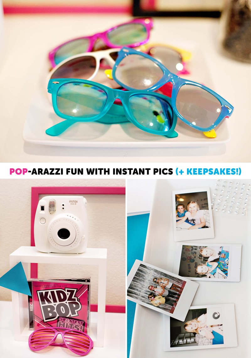 Pop Star Party Polaroid Activity