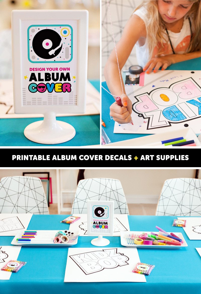 Pop Star Party Activity - Decorate an Album Cover
