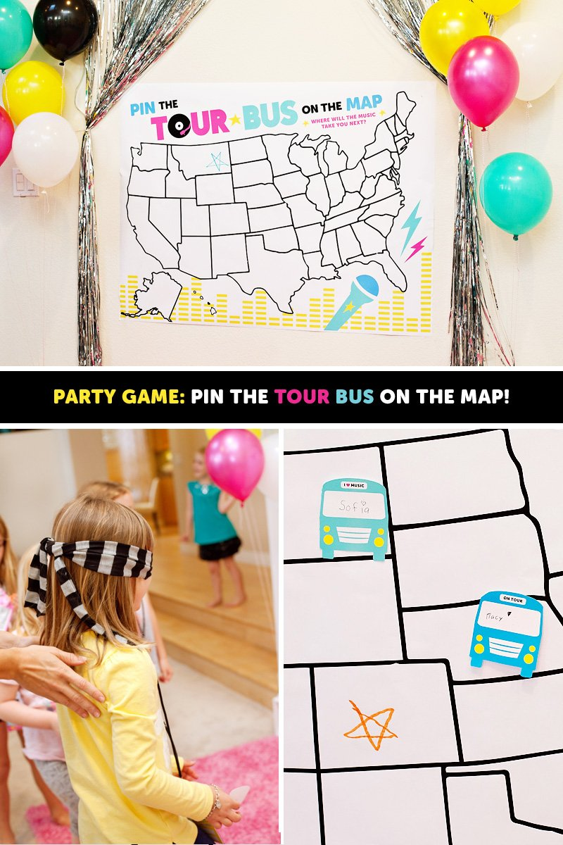 Pop Star Printable Game