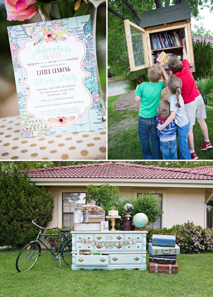Little Lending Library Vintage Book Party