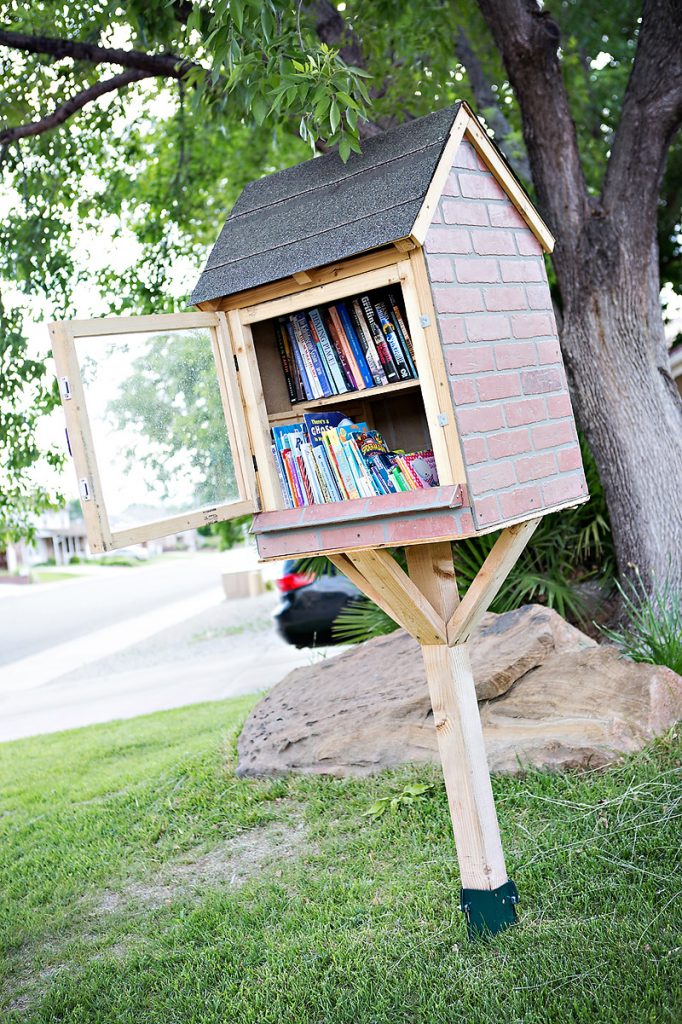 Homemade LIttle Lending Library