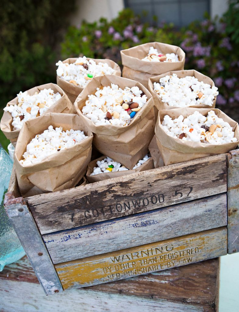 Vintage Popcorn Party Display