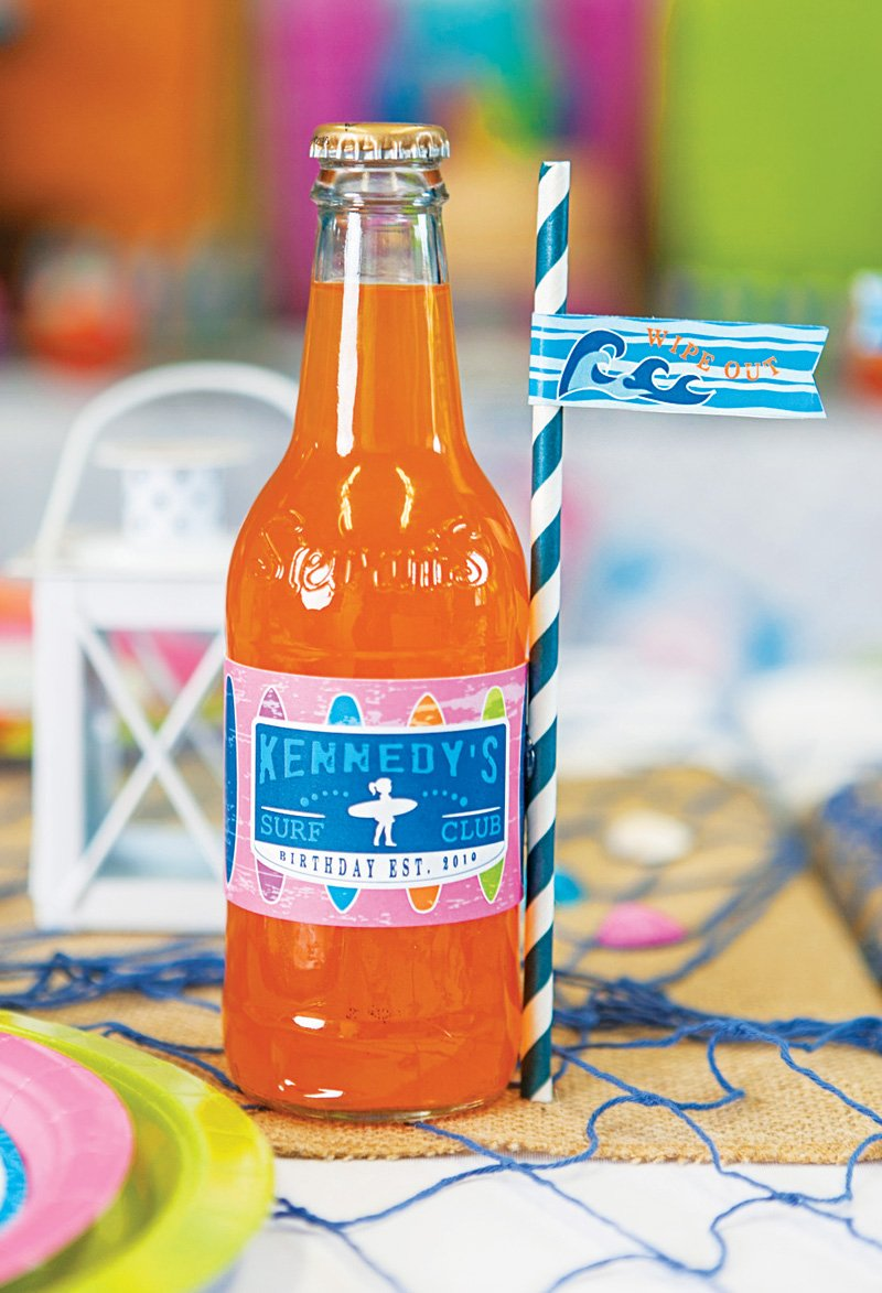 custom surf bottle wraps and party flags