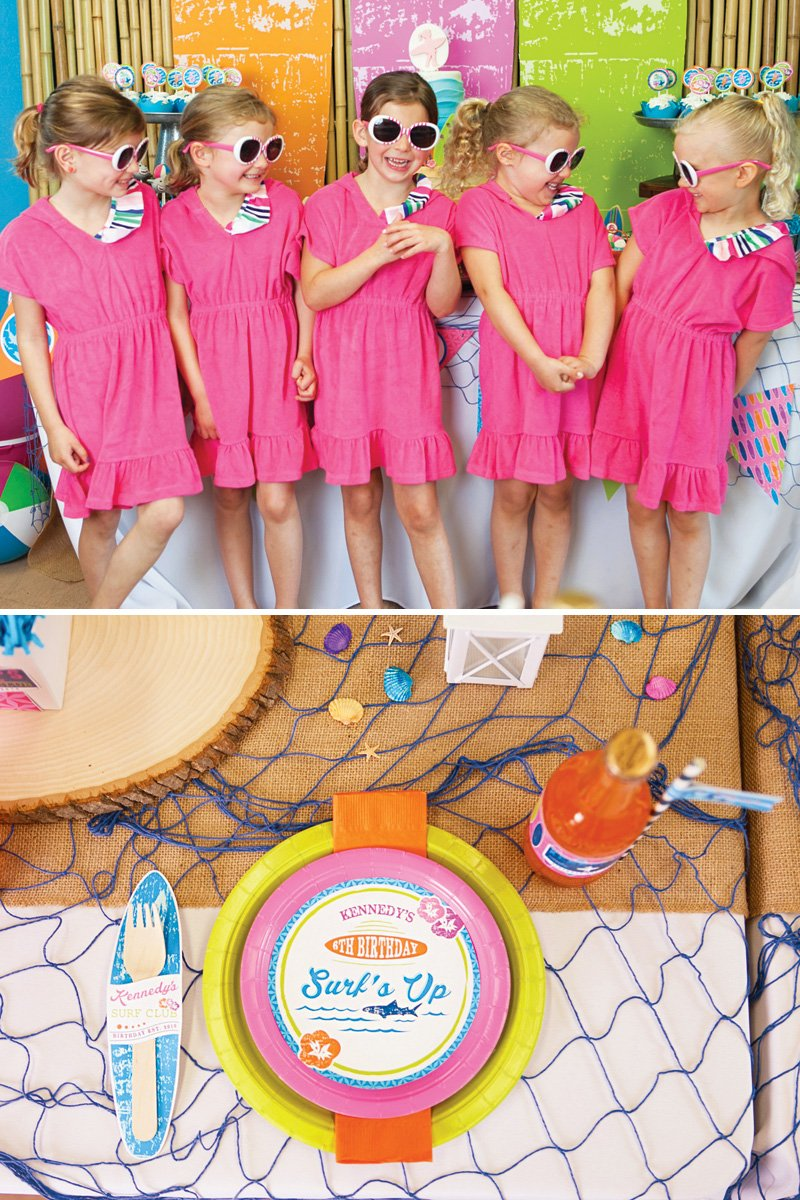girly surfing birthday party
