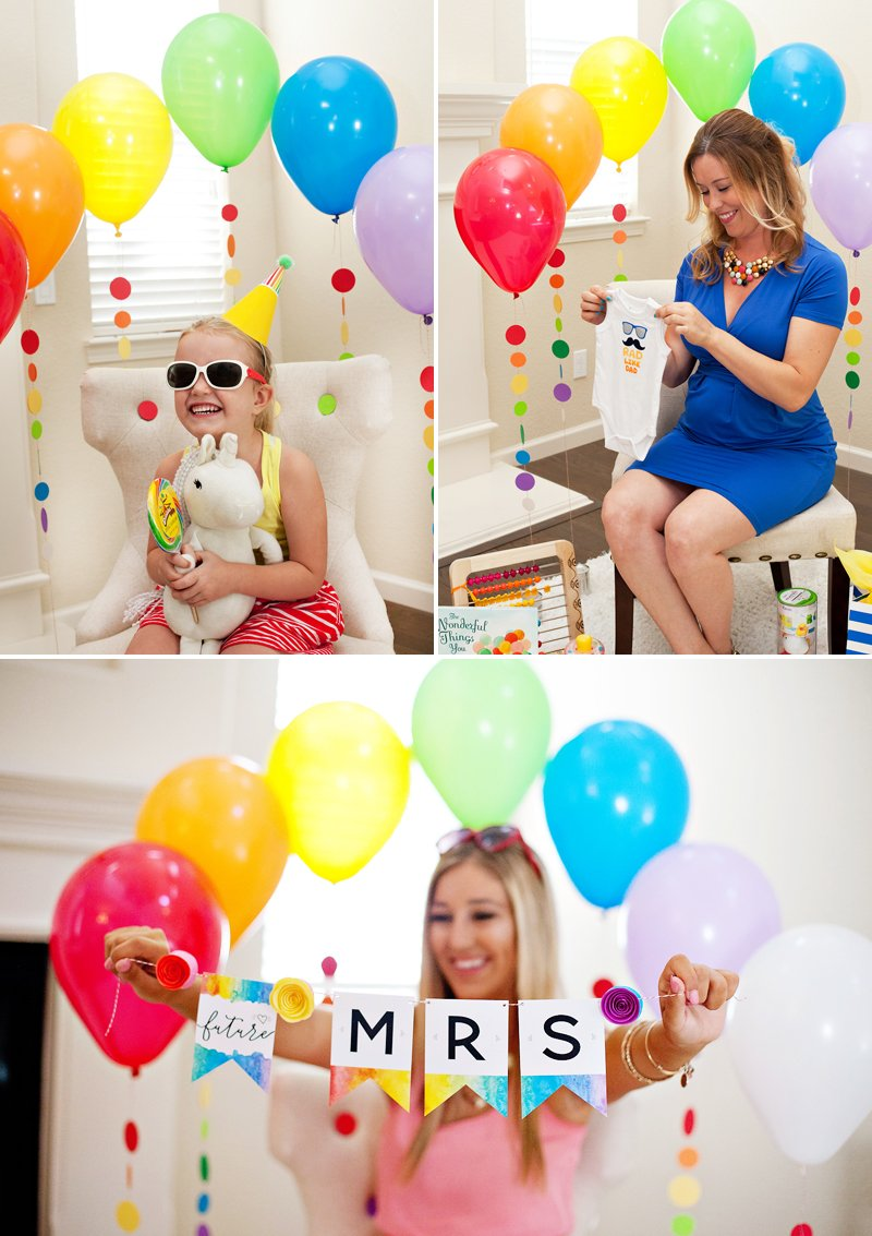 Rainbow Balloons Photo Backdrop