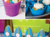 swimming themed party desserts