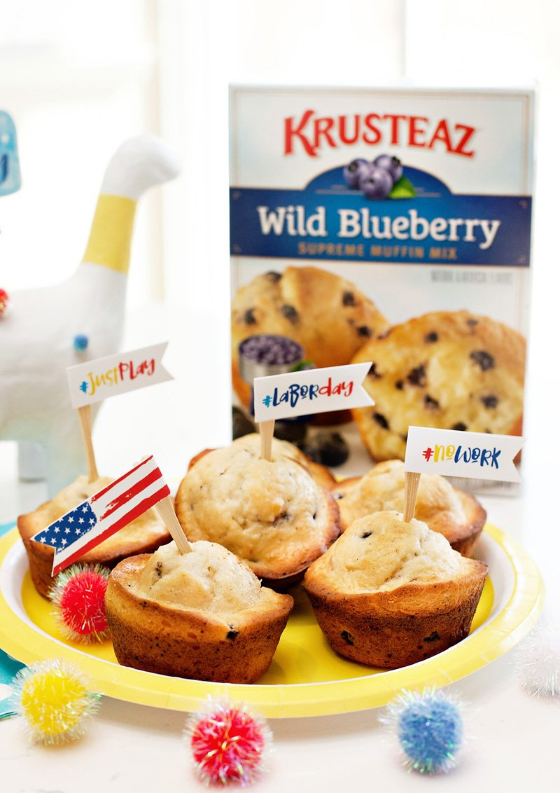 patriotic blueberry muffins