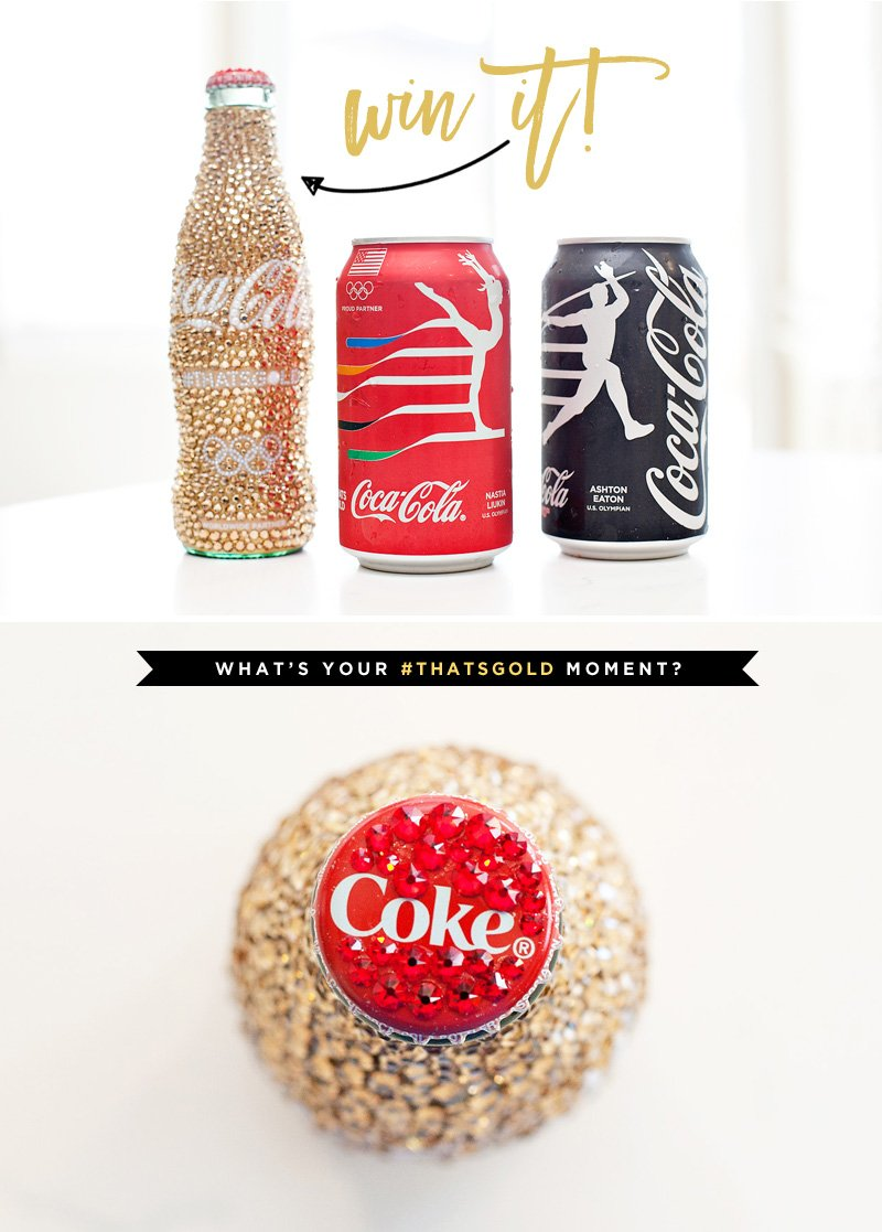 Olympics inspired Coca-Cola cans and #ThatsGold bottle