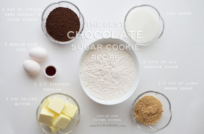 chocolate sugar cookie recipe ingredients