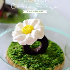 Flower Cookie Rings Tutorial by Kurabiki