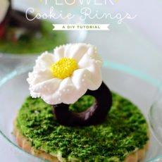 Flower Cookie Rings Tutorial by Kurabiki