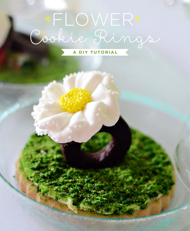 How to Make a Daisy Flower Cookie Ring (Recipe + Video)