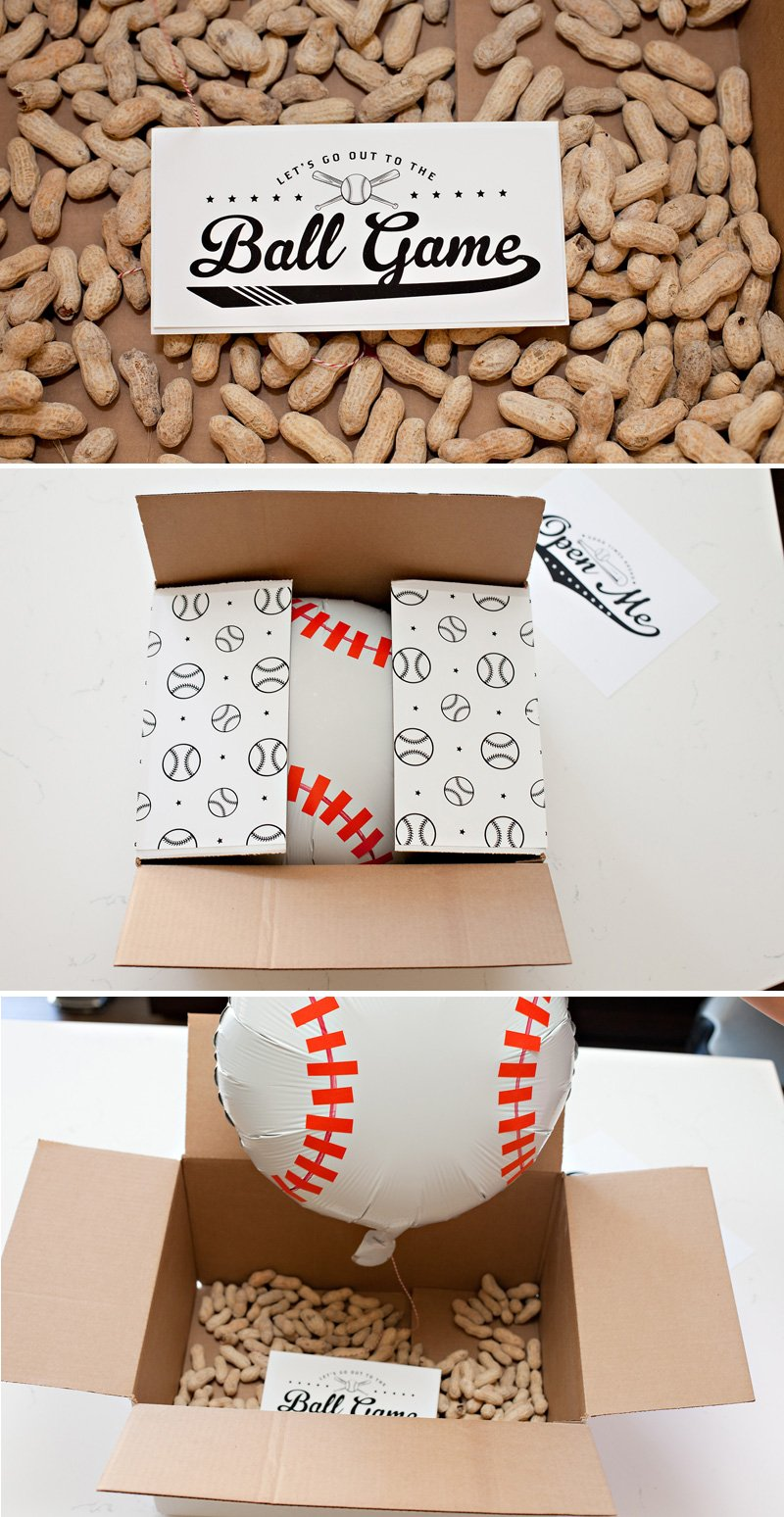 creative baseball tickets gift idea
