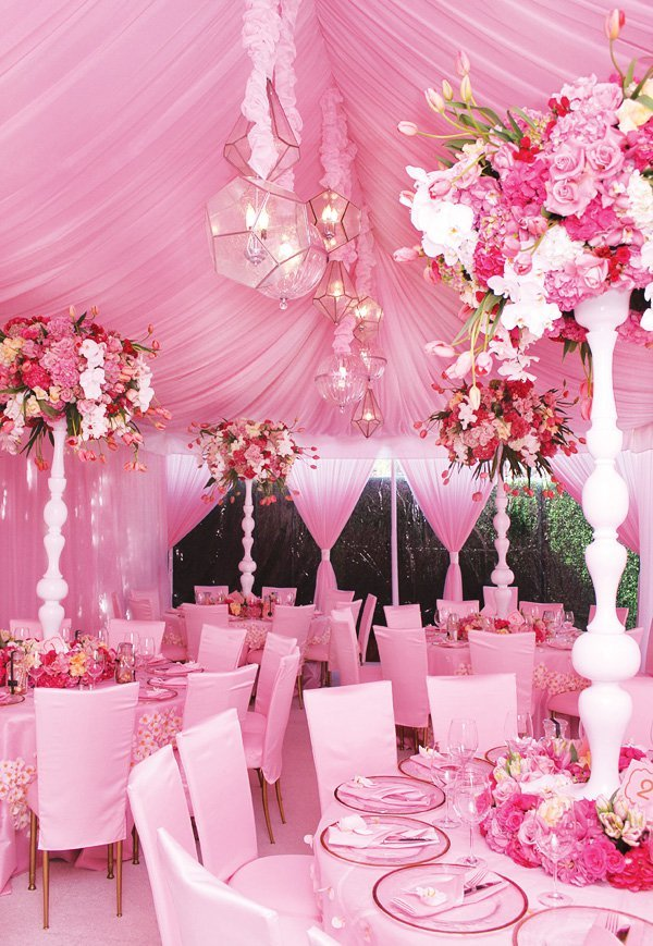 Elegant Pretty In Pink Baby Shower {Amazing Florals} // Hostess With The  Mostess®