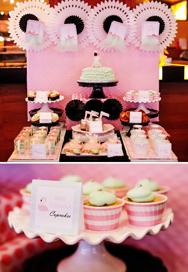 Wonderful Delightful Mint U0026 Pink Flamingo Baby Shower // Hostess With The Mostess®