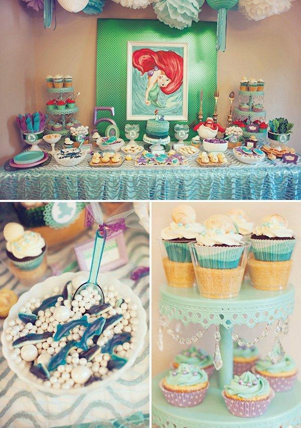 {DIYed} Ariel Themed Little Mermaid Birthday Party