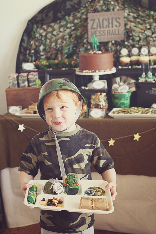 Creative Toy Soldier Camo Birthday Party Hostess With